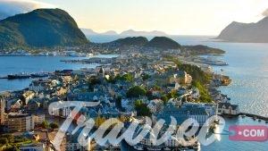 اين تقع النرويج وما هي المسافة بين مدن السياحة في النرويج