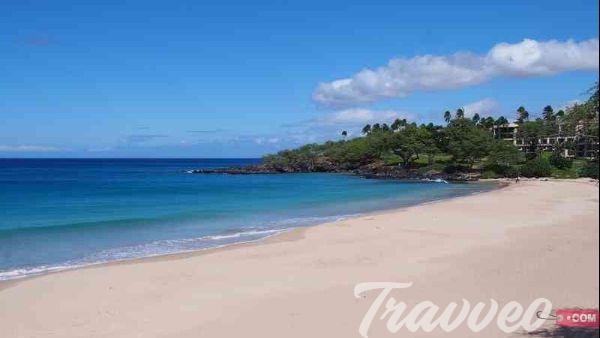 شاطئ Hapuna بالجزيرة الكبري
